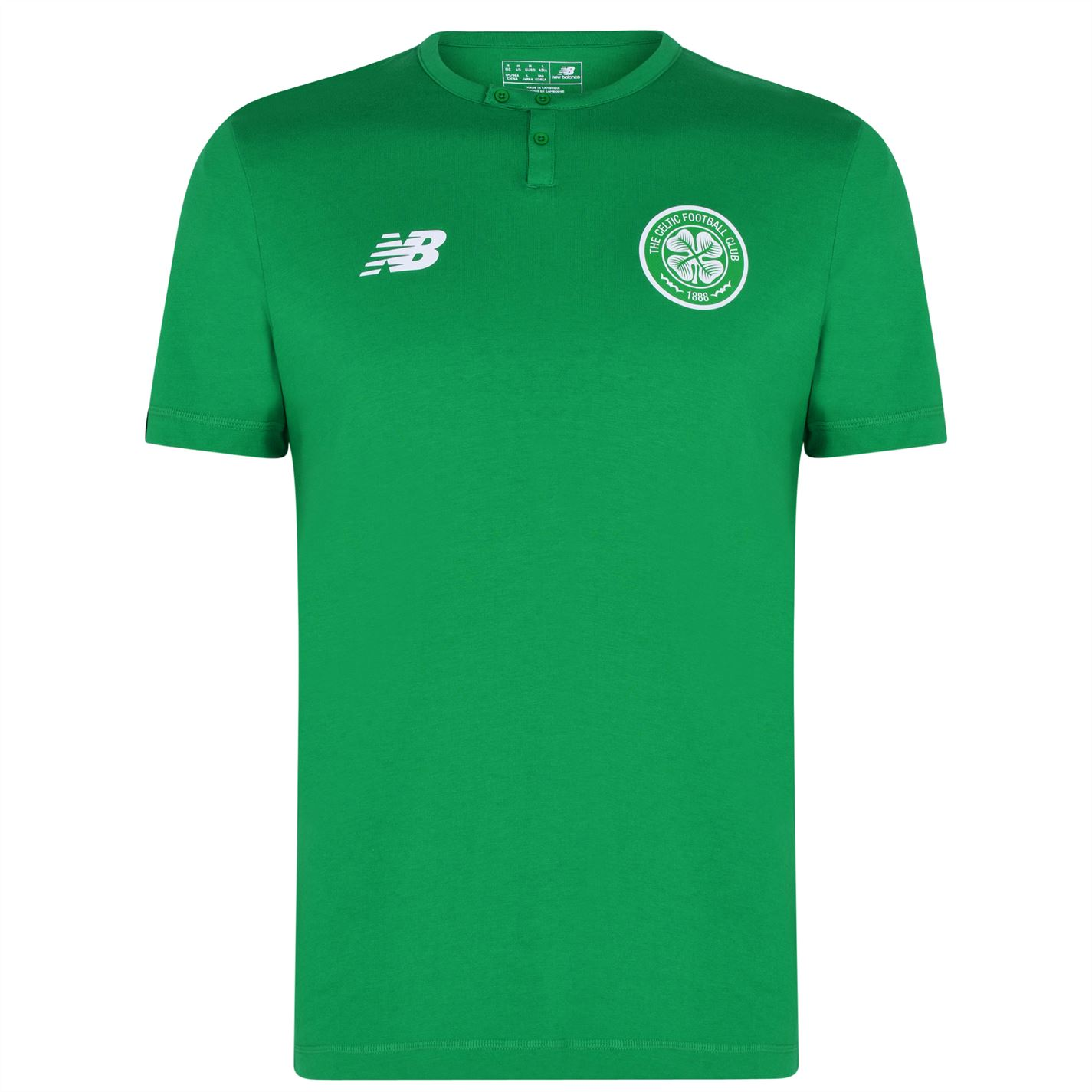 Mergi la Tricou New Balance Balance Celtic Button verde