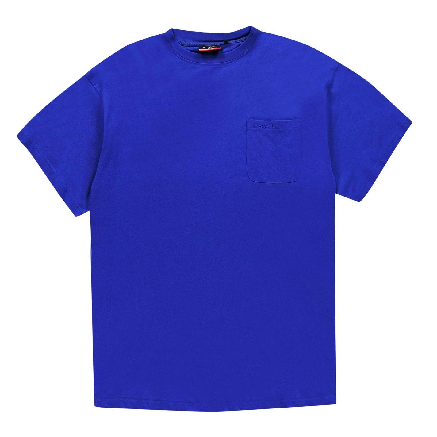 Tricou Pierre Cardin Extra Large Single cu buzunar pentru Barbati albastru roial