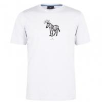 Mergi la Tricou PS by Paul Smith Halo imprimeu zebra off alb 40a