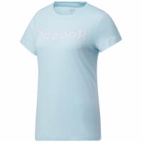 Mergi la Tricou Reebok antrenament Essential imprimeu Graphic Reebok Read albastru GI6647 pentru femei