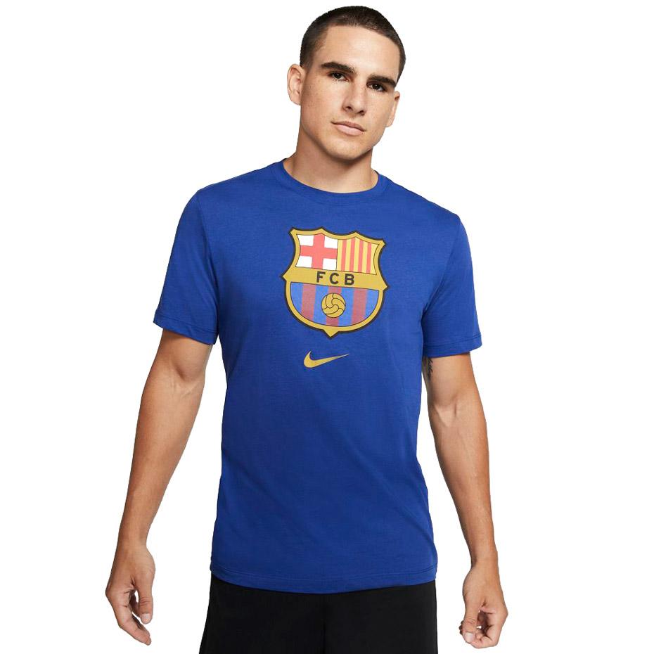 Mergi la Tricou Tricou Nike FC Barcelona Evergreen Crest 2 albastru CD3115 455 pentru Barbati