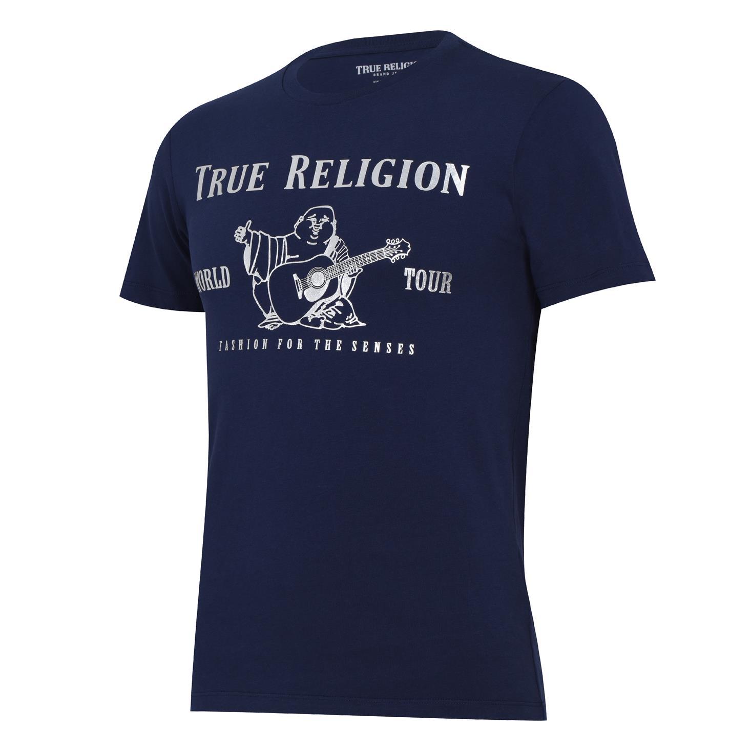 Tricou True Religion True Religion Buddha bleumarin argintiu