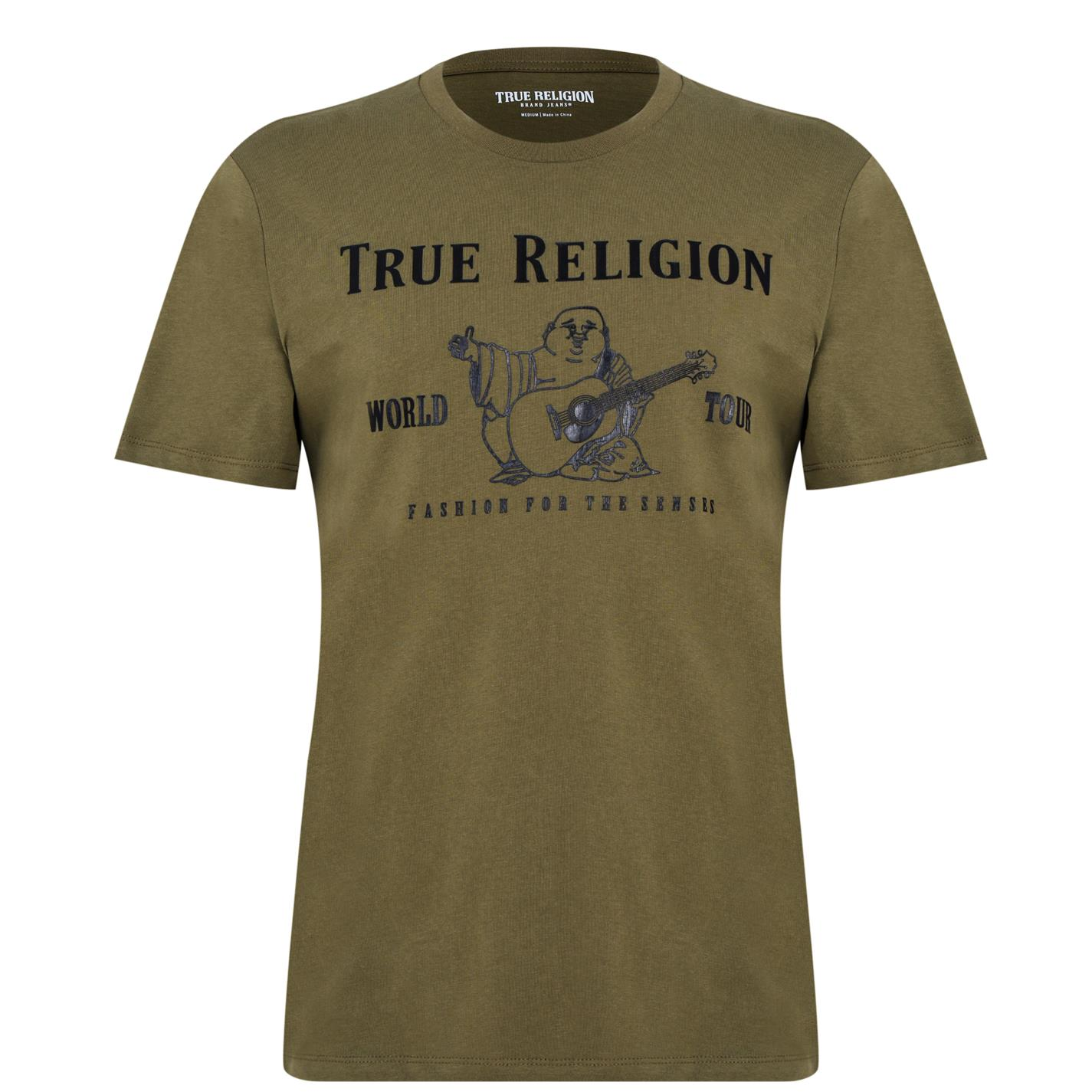 Tricou True Religion True Religion Buddha verde