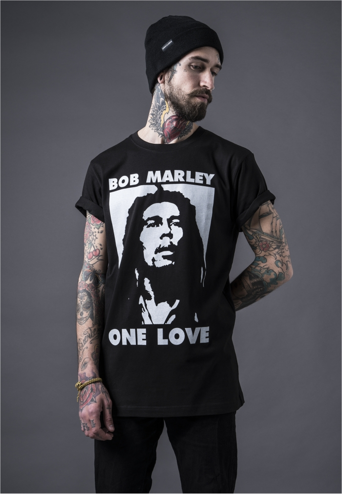 Tricouri Bob Marley One Love pentru barbati negru Mister Tee