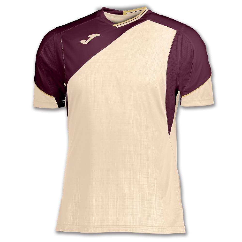 Tricouri Joma T- tenis alb-burgundy cu maneca scurta bej