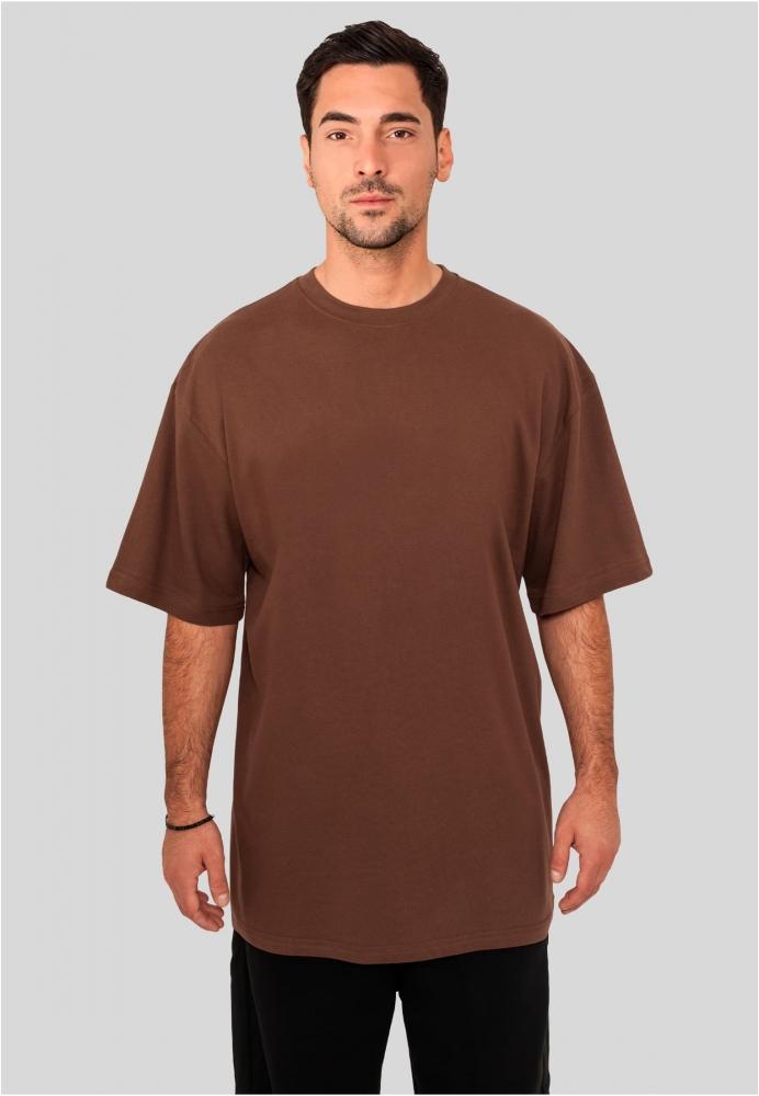 Tricouri lungi simple barbati maro Urban Classics