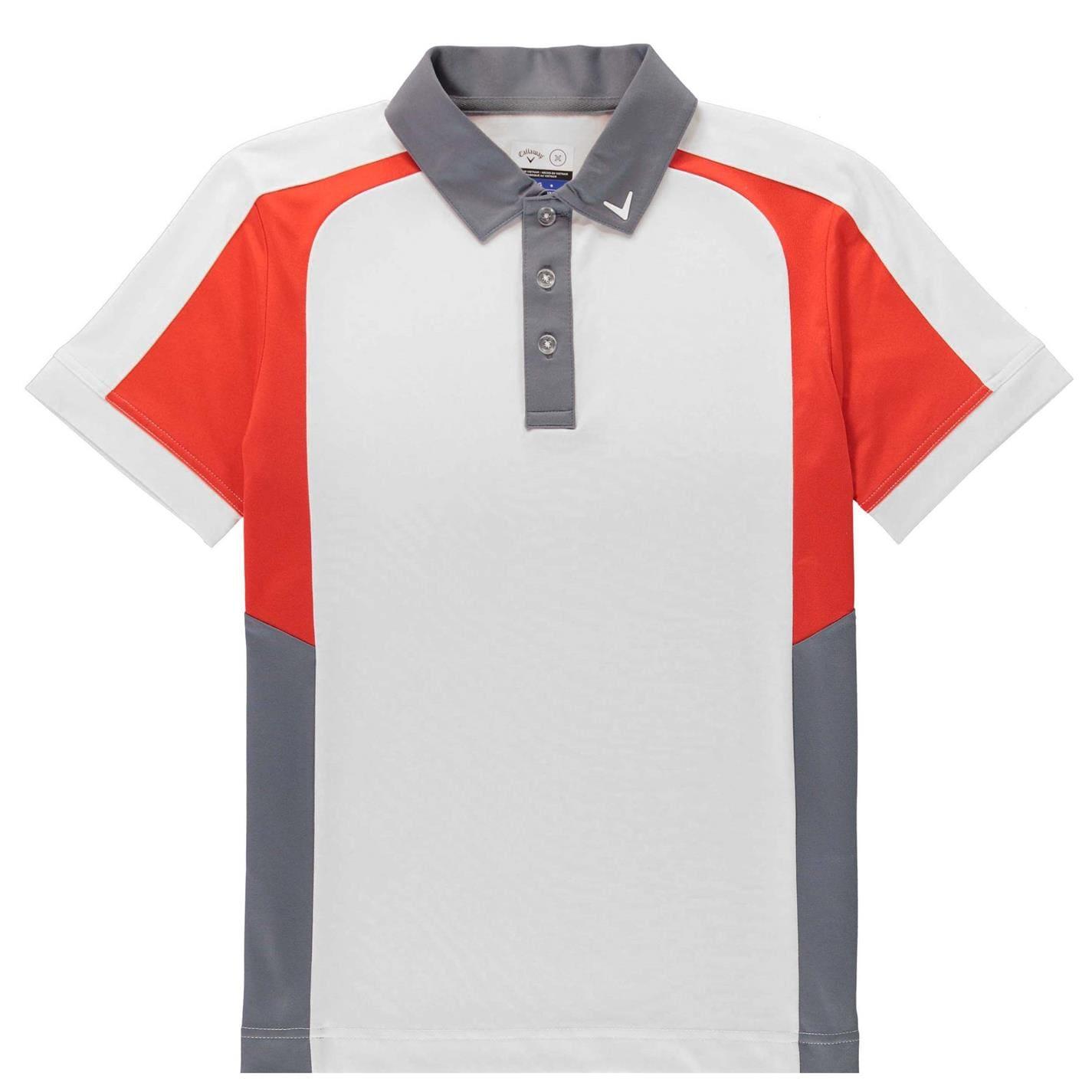 Tricouri Polo Callaway Colour Block Juniors bright alb