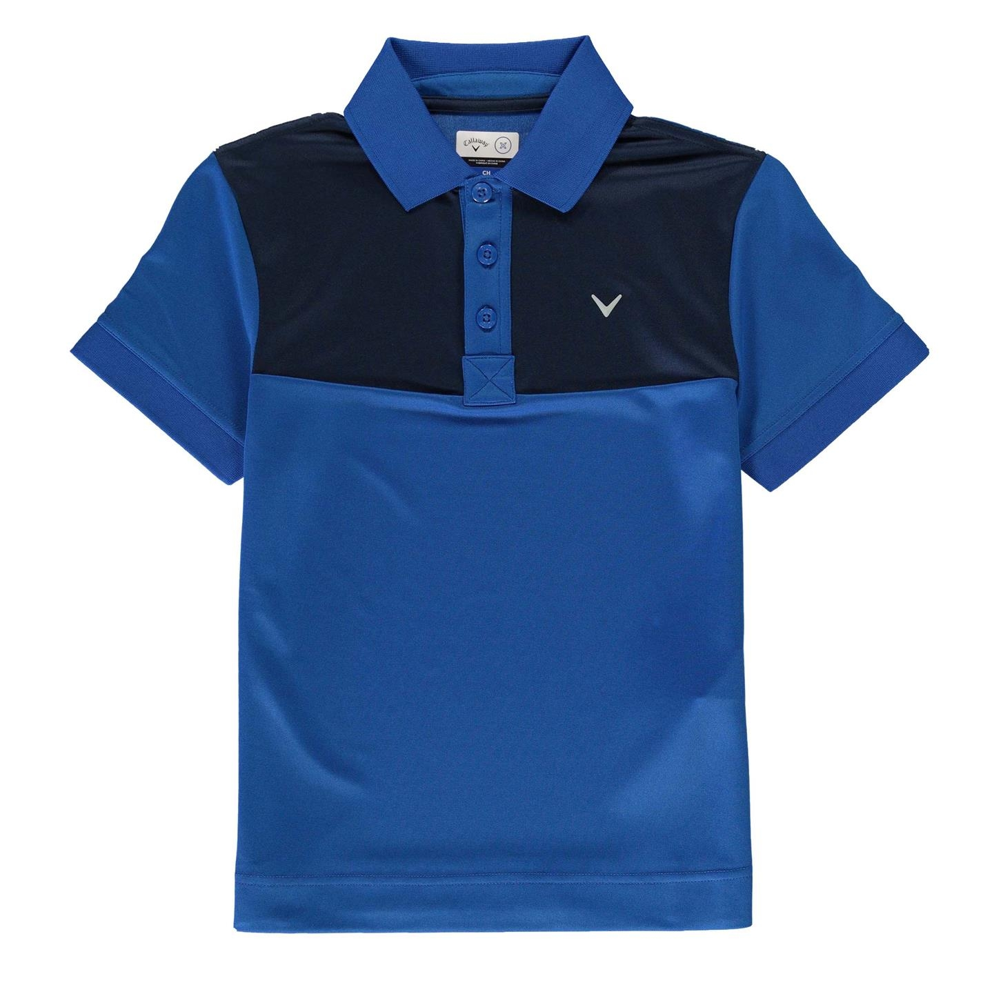 Tricouri Polo Callaway Youth Colour Block Juniors albastru