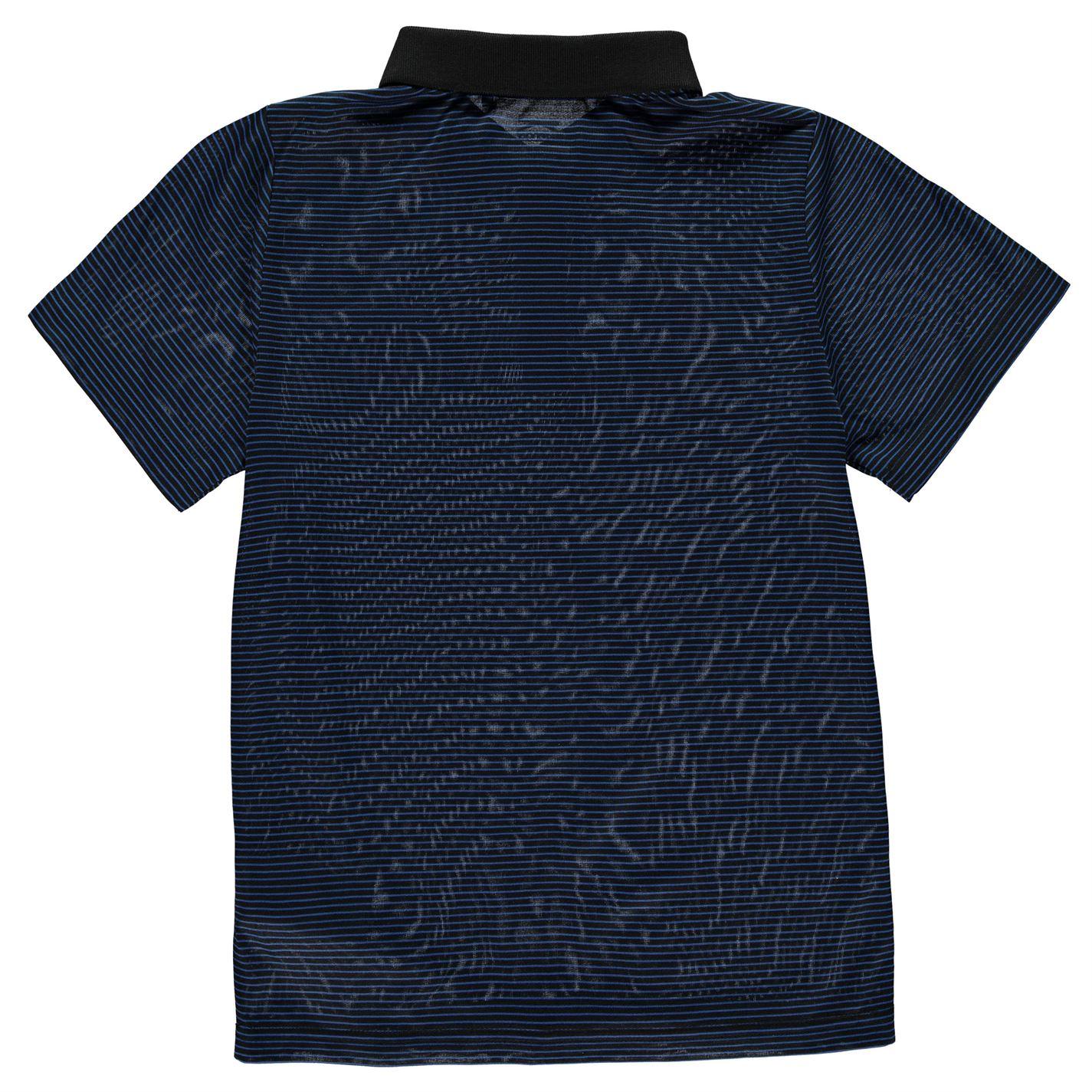 Tricouri polo cu dungi Slazenger Micro Shirt pentru baietei albastru