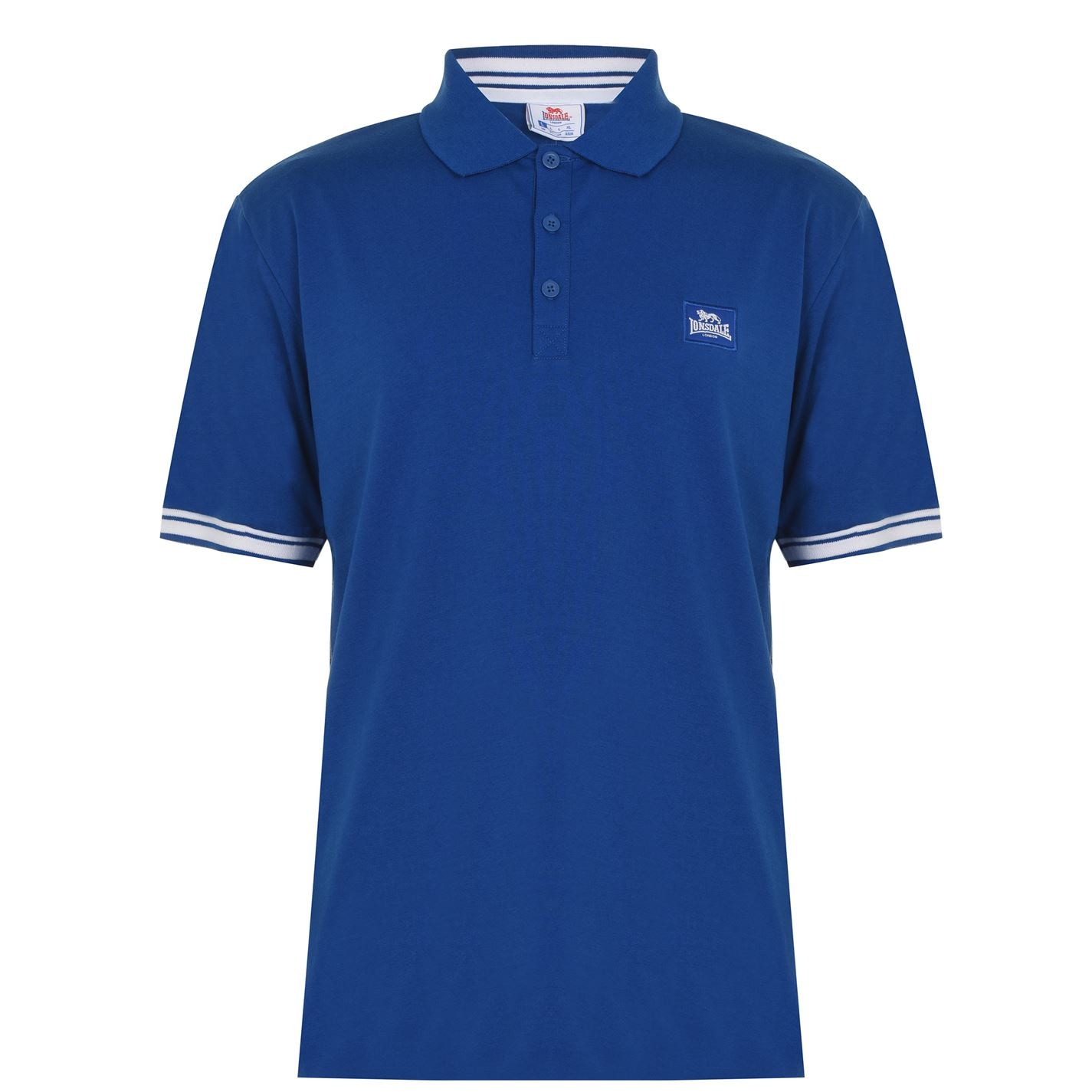Tricouri Polo Lonsdale Jersey pentru Barbati albastru alb
