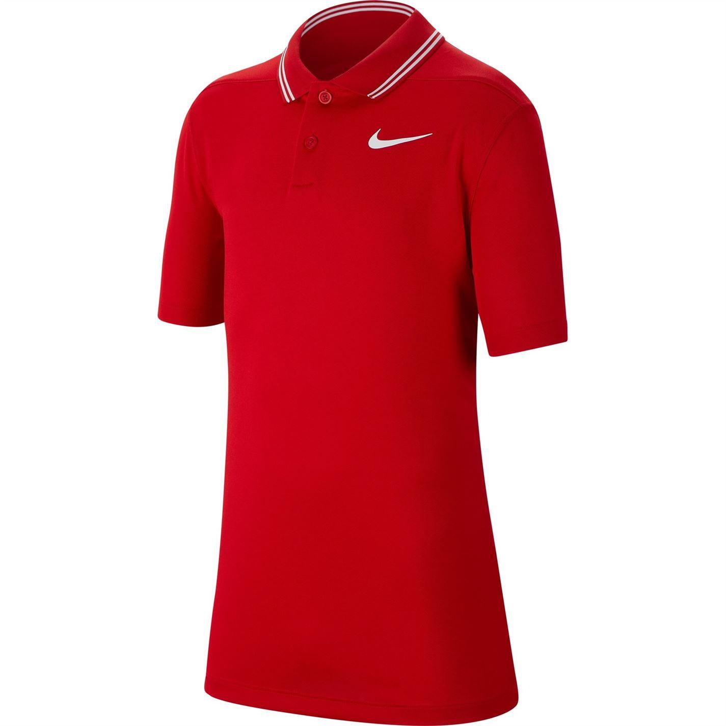 Tricouri polo pentru golf Nike Dri-FIT Victory pentru baieti rosu