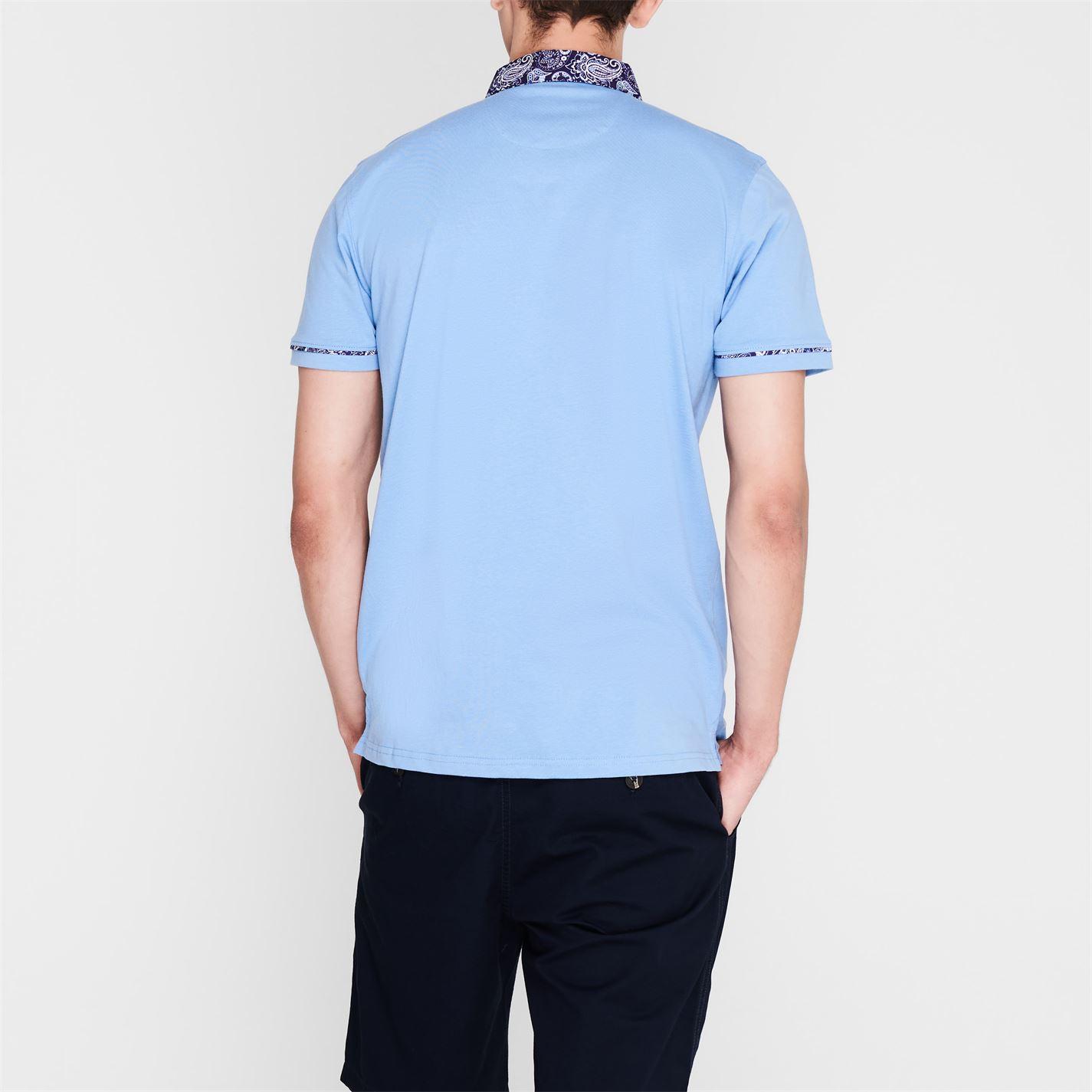 Tricouri Polo Pierre Cardin Paisley Collar pentru Barbati albastru