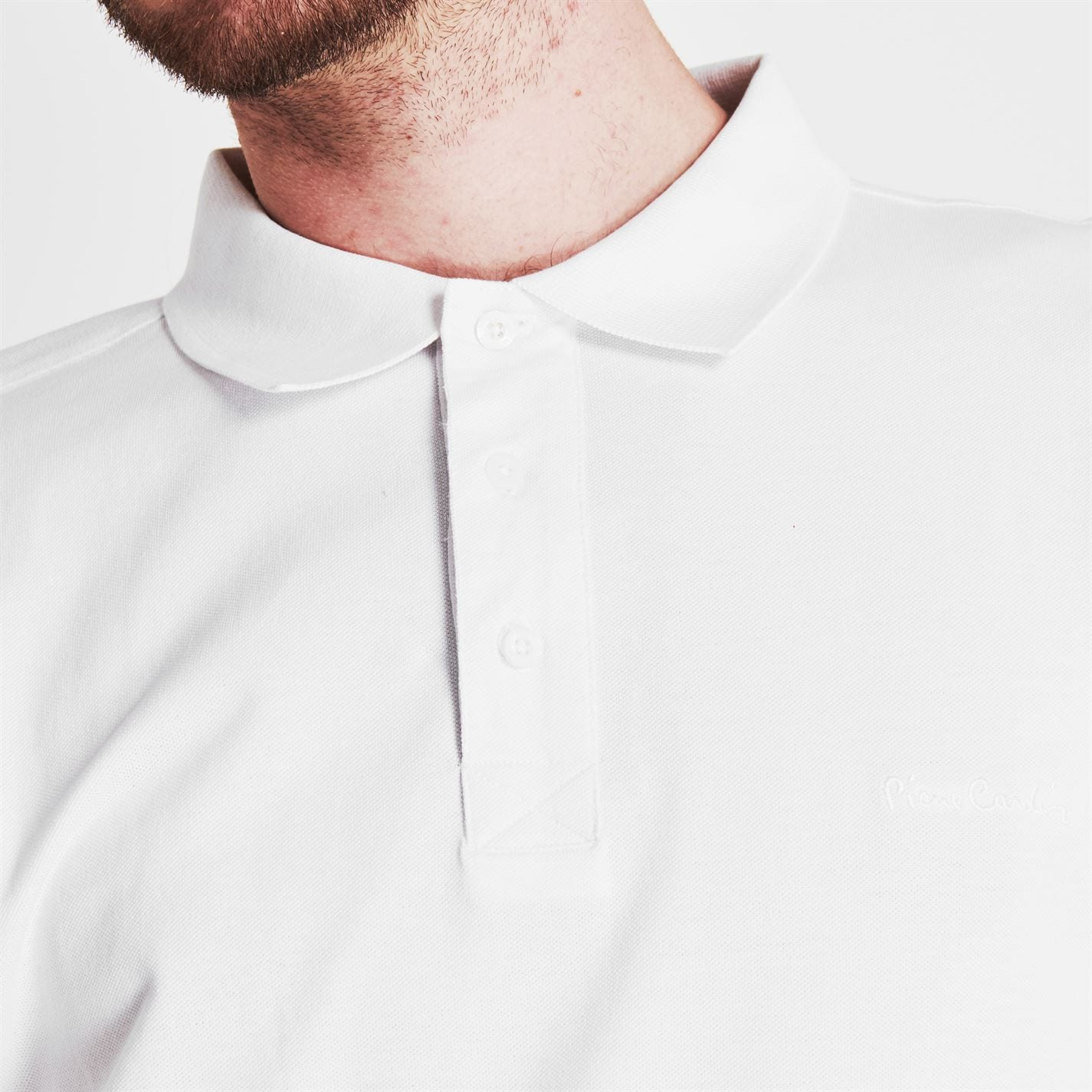 Tricouri polo simple Pierre Cardin XL pentru Barbati alb