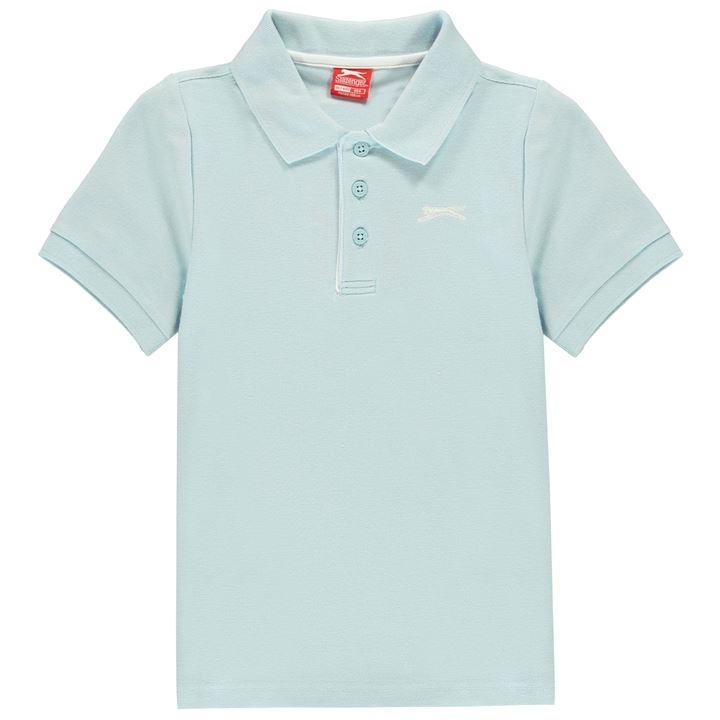Tricouri polo simple Slazenger pentru baietei deschis albastru