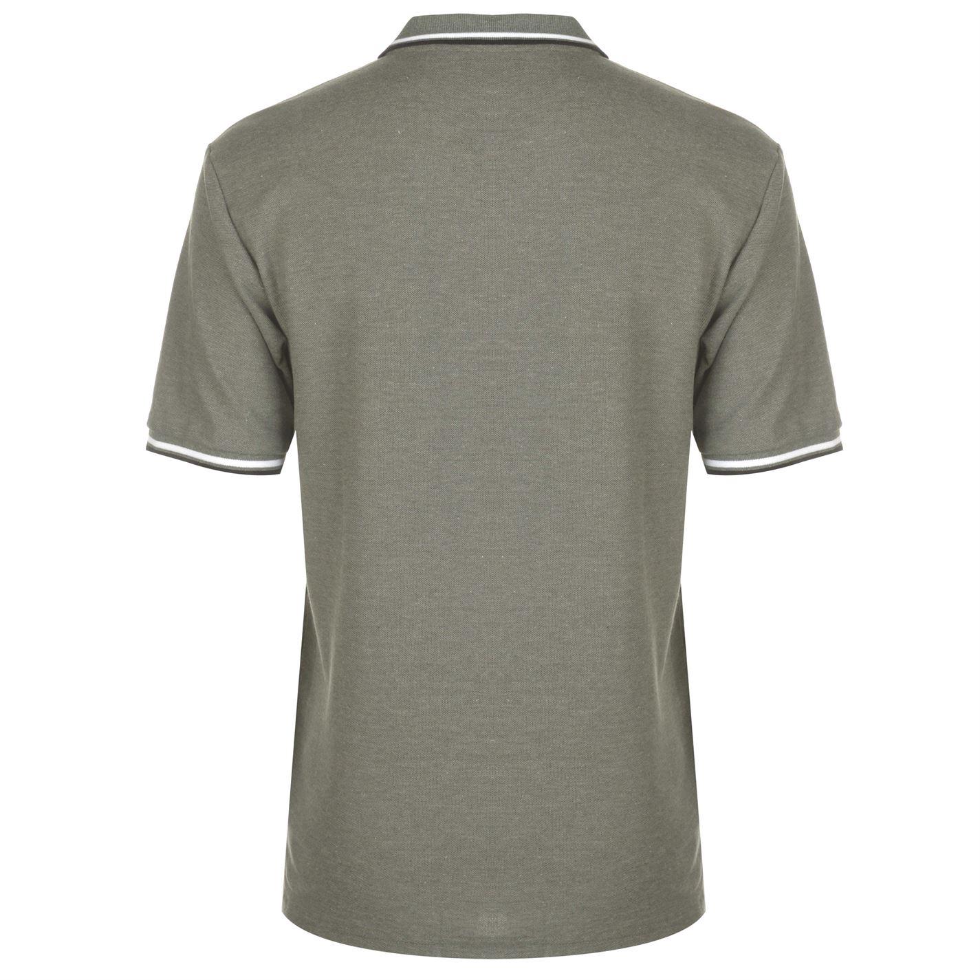Tricouri Polo Slazenger Tipped pentru Barbati kaki gri