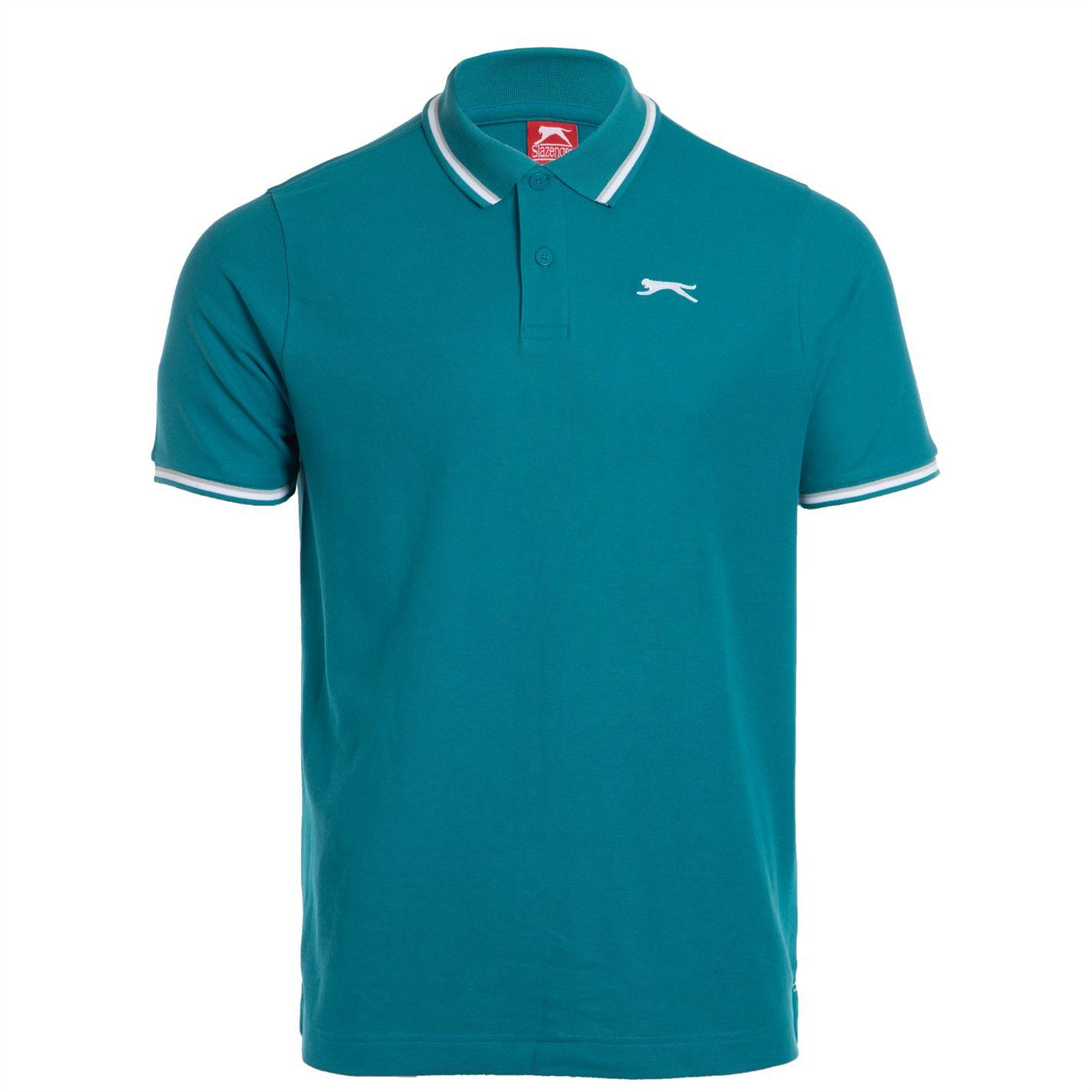 Tricouri Polo Slazenger Tipped pentru Barbati bleu albastru