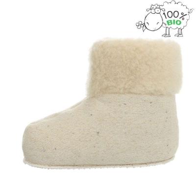 Papuci de casa imblanititi oaie naturala - alb