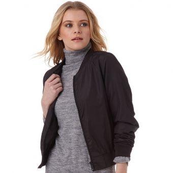 Jacheta Fluid Bomber negru pentru femei