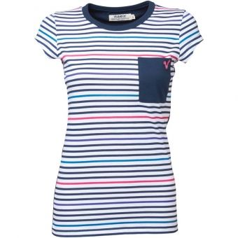Tricouri Voi Jeans Lady Fray Navy/Multi pentru femei