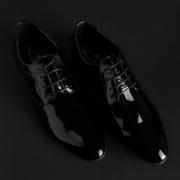 Pantofi siret Duca Di Morrone GEORGE Negru