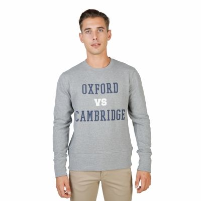 Bluze sport Oxford University OXFORD-FLEECE-CREWNECK Gri