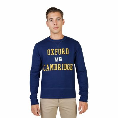 Bluze sport Oxford University OXFORD-FLEECE-CREWNECK Albastru