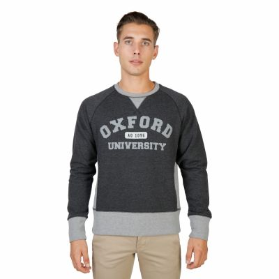 Bluze sport Oxford University OXFORD-FLEECE-RAGLAN Gri