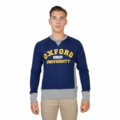 Bluze sport Oxford University OXFORD-FLEECE-RAGLAN Albastru