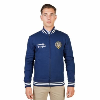 Bluze sport Oxford University OXFORD-FLEECE-TEDDY Albastru