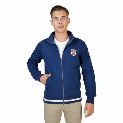 Bluze sport Oxford University QUEENS-FULLZIP Albastru
