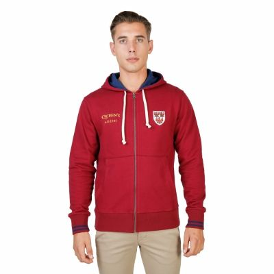 Bluze sport Oxford University QUEENS-HOODIE Rosu