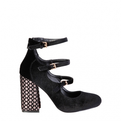 Pantofi cu toc Fontana 2.0 GIULIA Negru