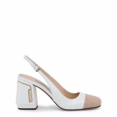 Pantofi cu toc Prada 1I223L Alb