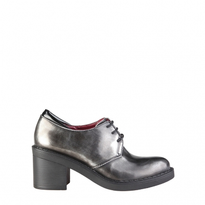 Pantofi siret Ana Lublin DESIRE Gri