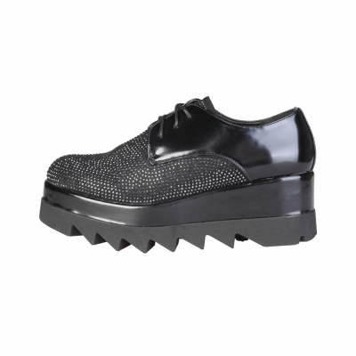 Pantofi siret Ana Lublin LEILA Negru