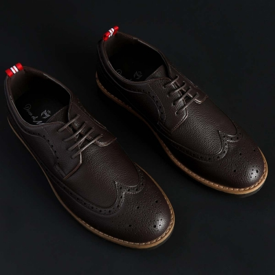 Pantofi siret Duca Di Morrone BRADFORD Maro