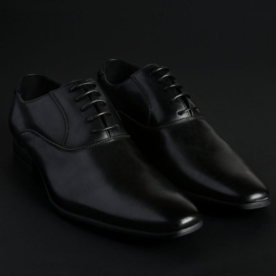 Pantofi siret Duca Di Morrone JOSH Negru