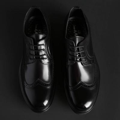 Pantofi siret Duca Di Morrone RICHARD Negru