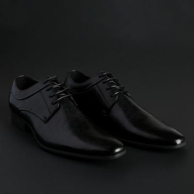 Pantofi siret Duca Di Morrone SMITH Negru