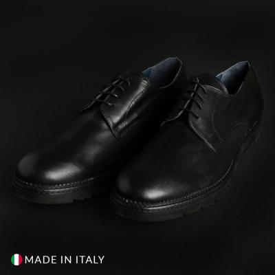 Pantofi siret Italian Eagle DERBY_L_VITELLO Negru