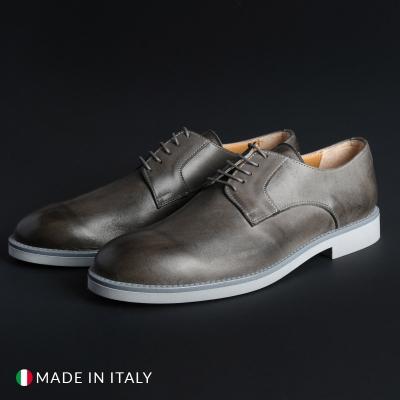 Pantofi siret Madrid 604_PELLE Gri