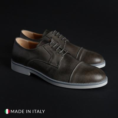 Pantofi siret Madrid 605_PELLE Gri