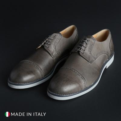 Pantofi siret Madrid 607_PELLE Gri