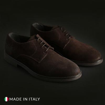 Pantofi siret Off-box 058_CAMOSCIO Maro