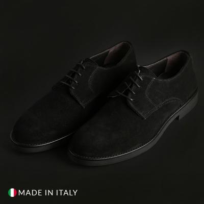 Pantofi siret Off-box 058_CAMOSCIO Negru