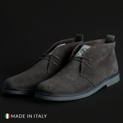 Pantofi siret Off-box 221_CAMOSCIO Gri