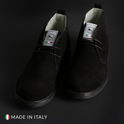 Pantofi siret Off-box 221_CAMOSCIO Negru