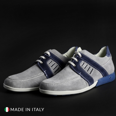 Pantofi siret Off-box 224_CAMOSCIO Gri