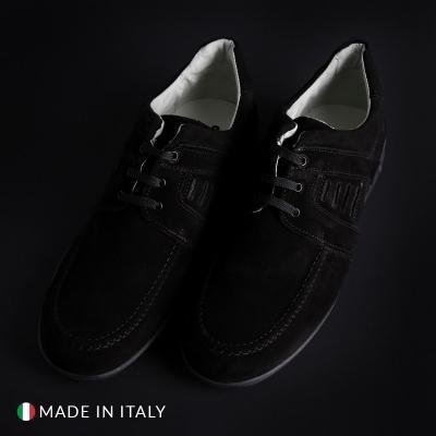 Pantofi siret Off-box 224_CAMOSCIO Negru