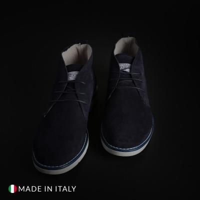 Pantofi siret Off-box 233D_CAMOSCIO Albastru